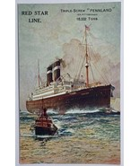 """Old Red Star Line Cruise Ship Triple-Screw """"Pennland"""" Postcard Advertise... - $13.67"""