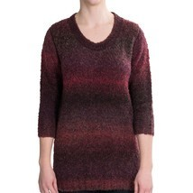 Woolrich Women's West Wind Pullover Ombre Sweater Ruby Spaced Dyed Large... - $549,06 MXN