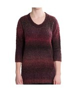 Woolrich Women's West Wind Pullover Ombre Sweater Ruby Spaced Dyed Large... - $37.04 CAD