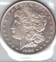 Choice B.U. 1880 S Morgan Silver Dollar - $55.00