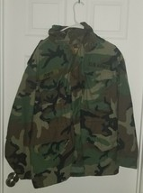 Military Field Jacket WOODLAND CAMO M-65 Medium Short Metal Zipper Cold ... - $30.00