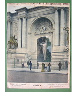 NUDE Paris Exposition at Trocadero Palace Exterior - COLOR Lichtdruck Print - $6.74