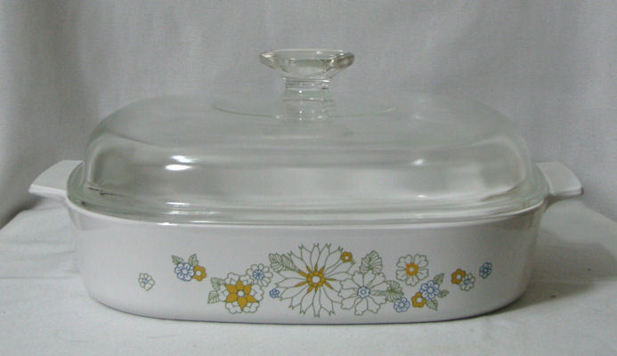 Corning Ware Floral Bouquet Skillet Casserole A-22-B