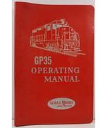 Diesel Locomotive Operating Manual for Model GP35 General Motors - $15.99