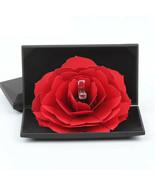 Rose Ring Box Earring Packing Pendant Jewelry Box Storage Case Wedding P... - $18.93