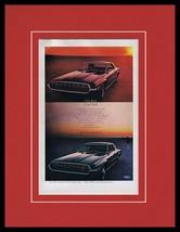 1968 Ford Thunderbird Hot Cool Bird Framed 11x14 ORIGINAL Vintage Advert... - $44.54
