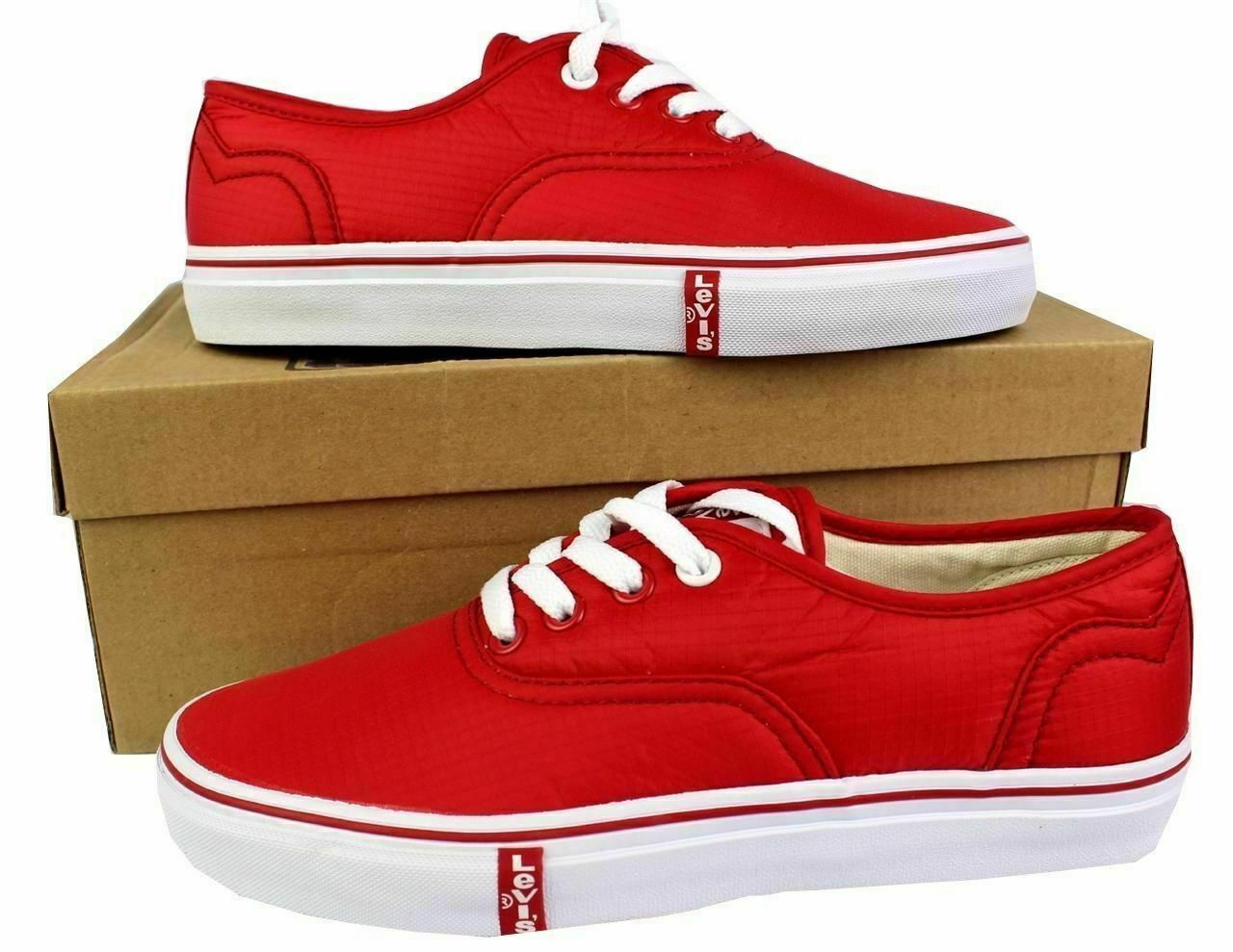Levi's Women's Classic Premium Atheltic Sneakers Shoes Rylee 524342-01R Red