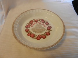 "Cherry Pie Recipe White Royal China Pie Plate by Jeannette Corp. 10.75"" ... - $44.54"