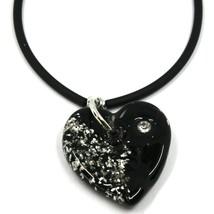 Bracelet Rubber and Steel Antica Murrina Venezia, BR096M05, Heart Glass Purple image 2