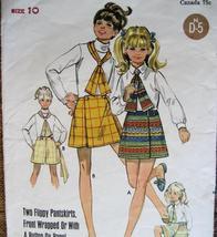 Vintage 60s Pattern Girls size 10 Pantskirt and Tie B5454 - $6.95