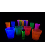 96 Piece Blacklight Reactive Shot Glass Assortment Package with FREE gift - $23.95