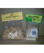 Dollhouse Handsplit Shingles Square Cut plus Miniature Clothes Pins Flat... - $19.99