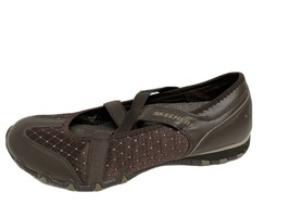 Skechers women's Mary Jane brown ballerina shoes leather textile upper size 10 - $21.01