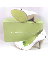 NIB Womens Designer $398 LEOPOLDO GIORDANO WHITE HEELS SHOES 41 10 New L... - $398.00