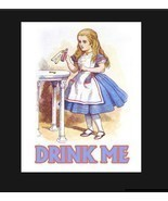 Alice in Wonderland Drink Me metal, Drink Me sign. Retro wall sign, wall... - £8.06 GBP