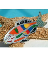 Vintage Mexico Fish Brooch Pin Sterling Silver ... - $54.95