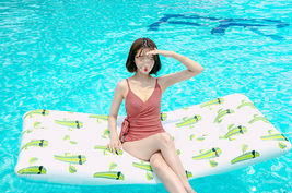 Adults Big Cactus Inflatable Pool Raft Water Bed Hammock Ride On Float Tube image 3