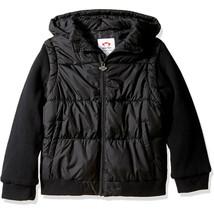 Appaman Big Boys' Turnstile Convertible Jacket, Black, 7 - $65.33