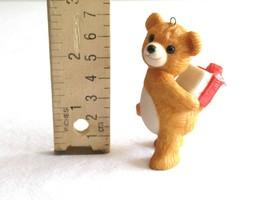 Vintage Hallmark Ornament Cinnamon Teddy Bear Gift Present Porcelain 198... - $9.99