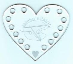 SPECIAL Heart Thread Palette 14 holes total clear acrylic thread keeper - $9.50