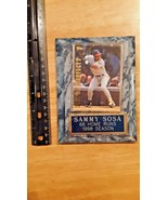 sammy sosa 66 home runs 1998 season baseball plaque - $3.95