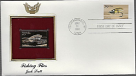 FISHING FLIES : Jock Scott First Day Gold Stamp Issue May. 31, 1991 - $6.50