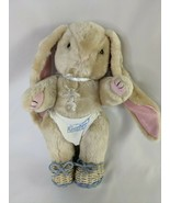 """Tan Rabbit Plush 11"""" Baby Diaper Pacifier Whicker Shoes Stuffed Animal toy - $29.95"""