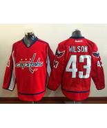 Men NHL Washington Capitals 43 Tom Wilson Red Ice Hockey Jerseys - $59.95