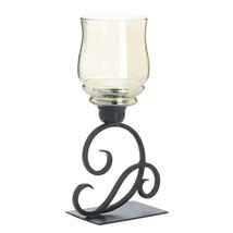 Cursive Votive Candle Stand Iridescent Glass - $24.17