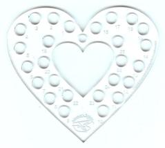 SPECIAL Super Heart Thread Palette 26 holes total clear acrylic thread k... - $10.00