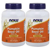 Pumpkin Seed Oil 1000mg Phytosterols 2X100gels Now Foods 2000mg per 2 Caps - $24.41