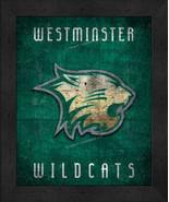 "Westminster Wildcats ""Retro College Logo Map"" 13x16 Framed Print  - $39.95"