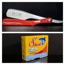 Maquinilla de afeitar Hair Master Barber y 100 hojas Shark - $29.65