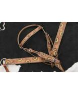 Western Saddle Horse Leather Tack Set w/ Sunflower Design Bridle + Breas... - $94.55