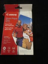 "Canon Photo Paper Plus Glossy Premium Photo Paper 48 Sheets 4"" X 6"" - $6.99"