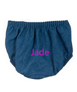 Denim Girls Personalized Diaper Cover, Baby Bloomers - $15.00