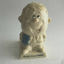 """""""World's Best Father """" Vintage 1970 Wallace & Russ Berrie Co's Resin Fig... - $16.62"""