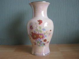 Vintage Sadler Lustre Vase with Floral Decoration - $29.20
