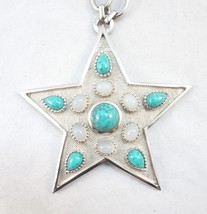 Trifari 1960s BIG Cabochon Star Pendant Runway Couture Statement Necklace - €98,36 EUR
