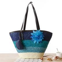 New Beach Shopping Bag Woman Woven Straw Handbag Summer Fashion Big Larg... - $20.99