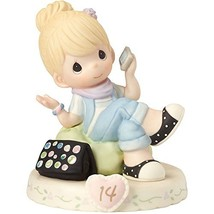 Precious Moments 162013  Growing In Grace, Age 14, Bisque Porcelain Figurine, Bl