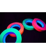 4 Pack 1 Inch UV Blacklight Reactive Fluorescent Artist Tape 4 Rolls x 6... - $44.95