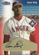 2000 Fleer Tradition Fresh Ink Cesar King Rangers - $4.00