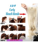 Bleach Blonde Hair Extension Wig Ponytail Clip In New - $54.99