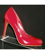 Jessica Simpson 'Calie' red round toe patent leather sculpted pump heel ... - $33.30