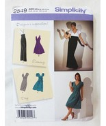 Simplicity evening and day dress sewing pattern 2549 size H5 6-14 - $8.91
