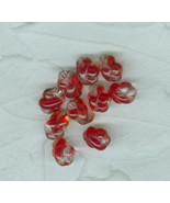 10 Vintage Red Crystal Blend German Fancy Twist Glass Beads - $7.99