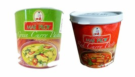Mae Ploy Thai Cuisine Red Green Curry Paste 35 oz Jar Set (1 Red Curry +... - $31.67