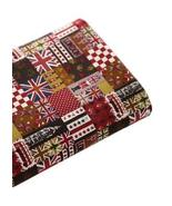 [English Hour] 21'' Wide Handworked Patterned Cotton Fabric Coffee 17.52... - $13.37