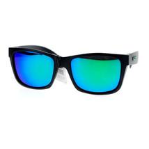 KUSH Sunglasses Unisex Matted Black Square Frame Multi-color Mirror Lens - $9.95